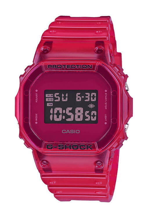 Casio G-Shock Digital 90s See-Through Red DW5600SB-4D