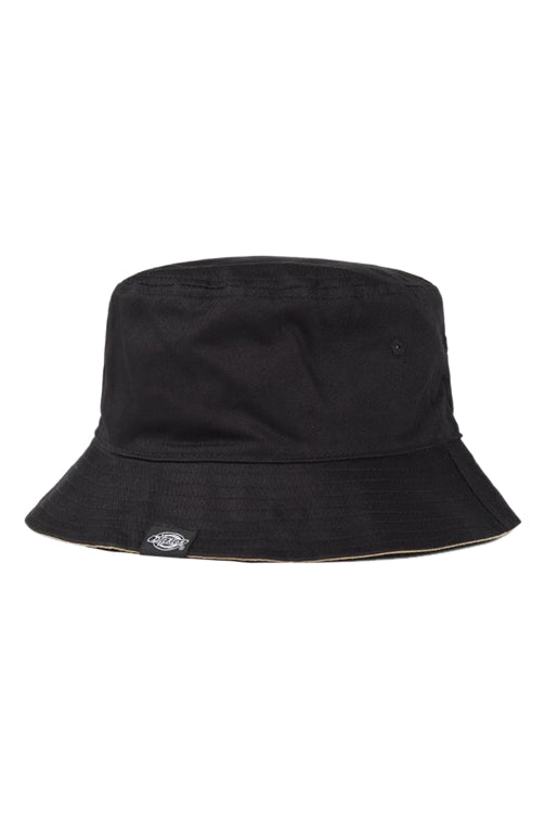 Dickies Stamford Reversible Bucket Hat Black/Khaki Front