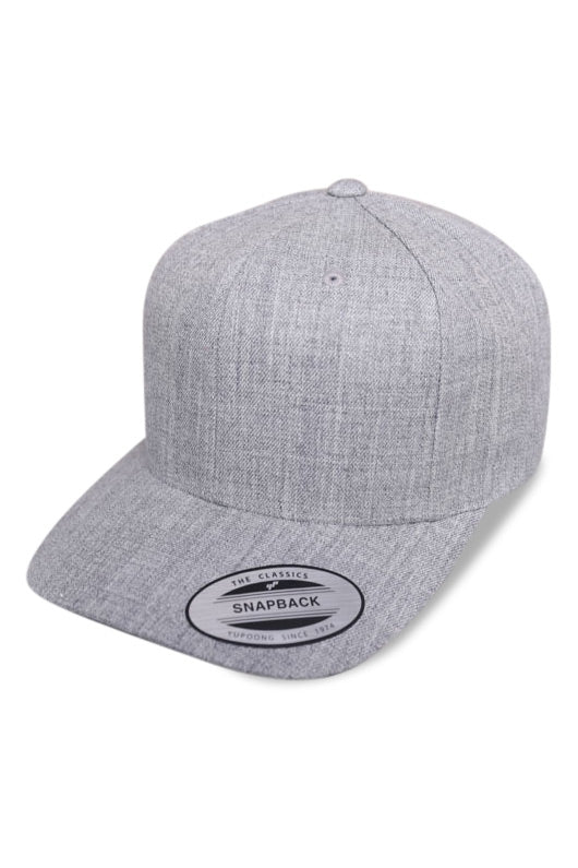 Flexfit Classic Marle Grey Snapback Angle