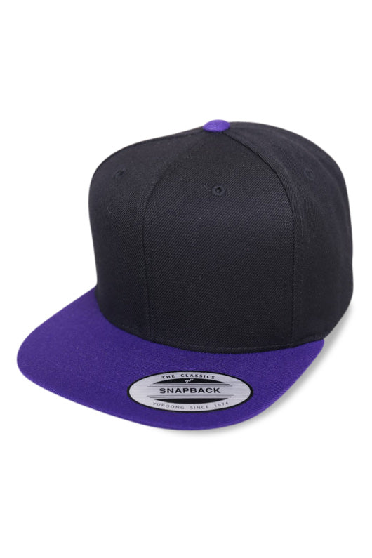 Flexfit Cap Youth Black / Purple Angle