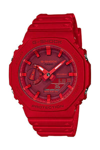 Casio New Basic Duo Slim Alarm Red GA2100-4A Front