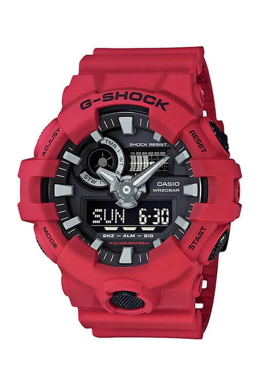 Casio G-Shock Duo Red GA700-4A