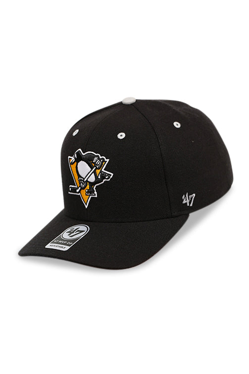 47 Brand Pittsburgh Penguins Black/Grey Audible Snapback Angle