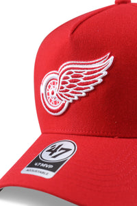 47 Brand Detroit Red Wings MVP DT Red Snapback Detail
