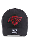 47 Brand LA Kings Vintage Black Red Replica MVP DT Snapback Front