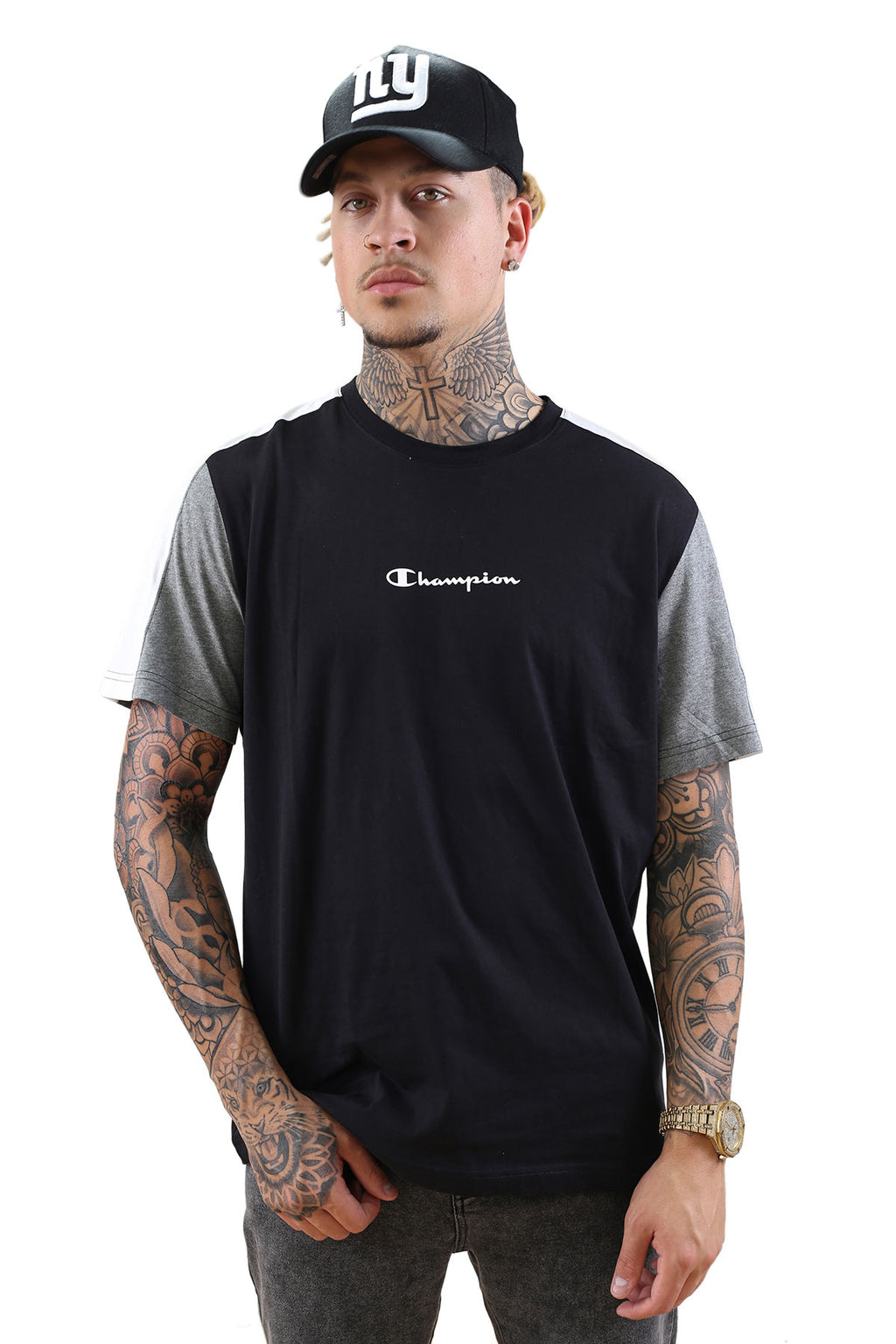 Champion EU Mod Block Tee Black