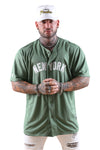Majestic NY Wordmark Replica Jersey Elm Green Front