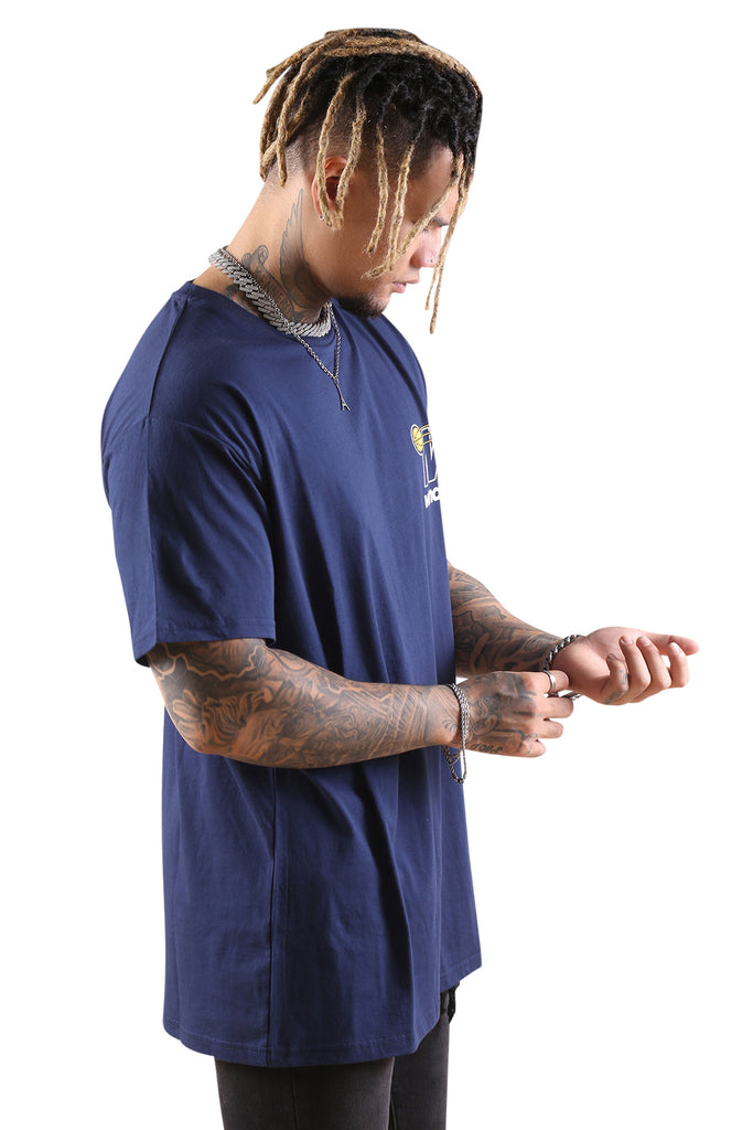 WNDRR In Bound Custom Fit Tee Navy Angle 1