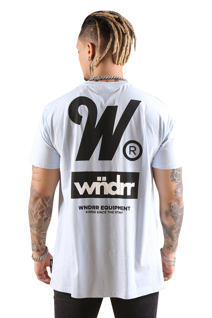 WNDRR Code Custom Fit Tee Sky Blue Back