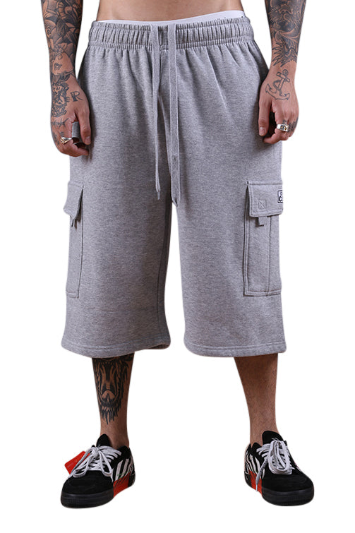Pro Club Fleece Cargo Shorts Grey