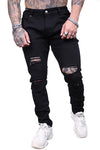 AFKNCHUR Empress Distressed Jean Black
