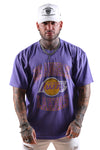 M&N Lakers Vintage Crest Logo Tee Purple