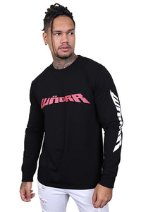 WNDRR Altitude Long Sleeve Tee Washed Black Front