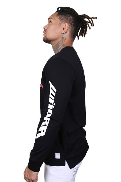 WNDRR Altitude Long Sleeve Tee Washed Black Angle