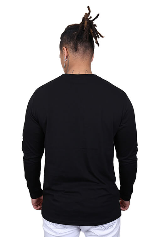 WNDRR Altitude Long Sleeve Tee Washed Black Back