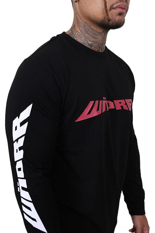 WNDRR Altitude Long Sleeve Tee Washed Black Detail 2