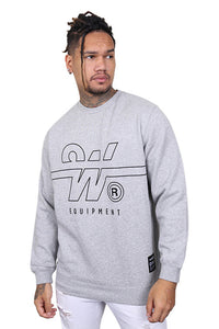WNDRR Overtime Crew Sweat Grey Marle Front
