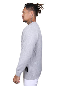 WNDRR Overtime Crew Sweat Grey Marle Angle