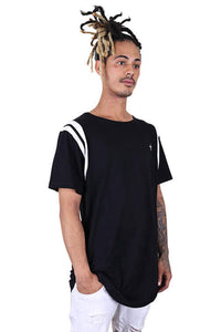Federation Better Tee Black/White Angle