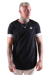 SikSilk Raglan Tech S/S Tee Black