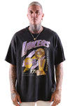 M&N Lakers Vintage 17 Times Champs Tee Black