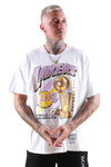 M&N Lakers Vintage 17 Times Champs Tee White