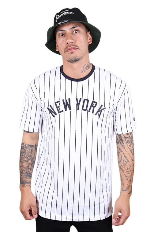 New Era NY Oversized Tee White/Navy Front