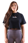 Ellesse Fireball Cropped Tee Black