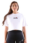 Ellesse Fireball Cropped Tee White