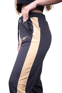 SikSilk Satin Panel Track Pants Black Detail