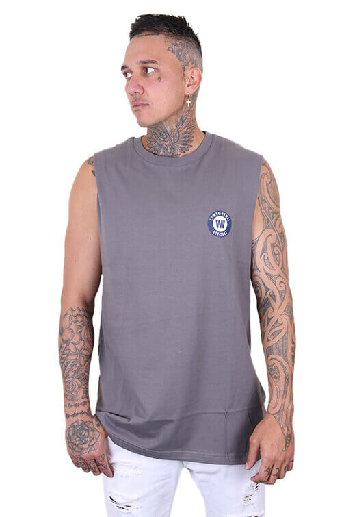 Lower Pioneer Cut Tank Grey Front