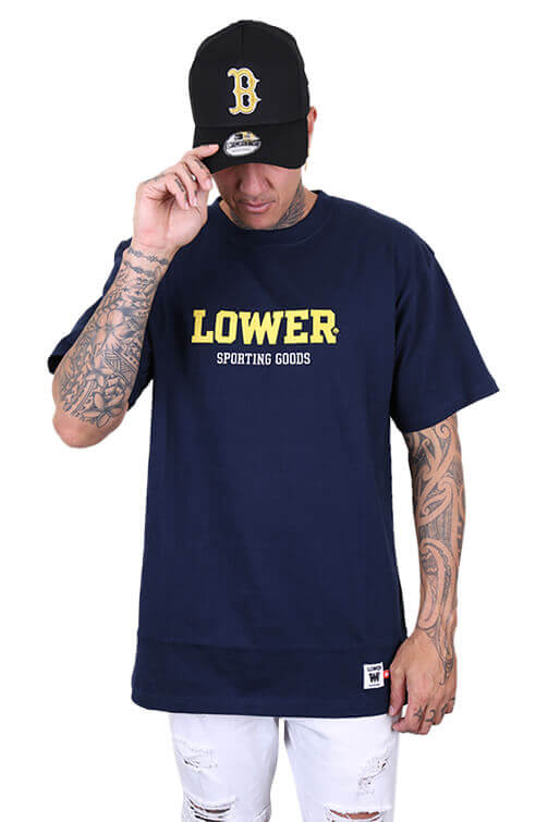 Lower Iron Man Block Tee Navy Front