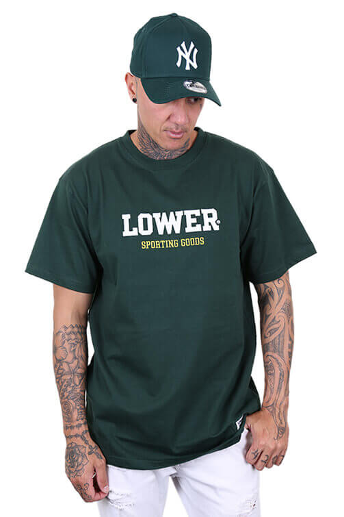 Lower Iron Man Block Tee Forest Green Front
