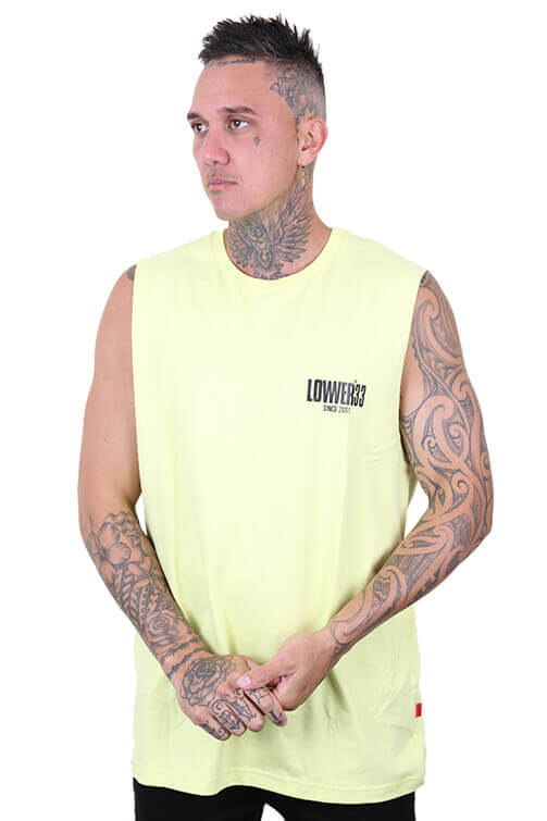 Lower Dippin Cut Tank Yellow Front