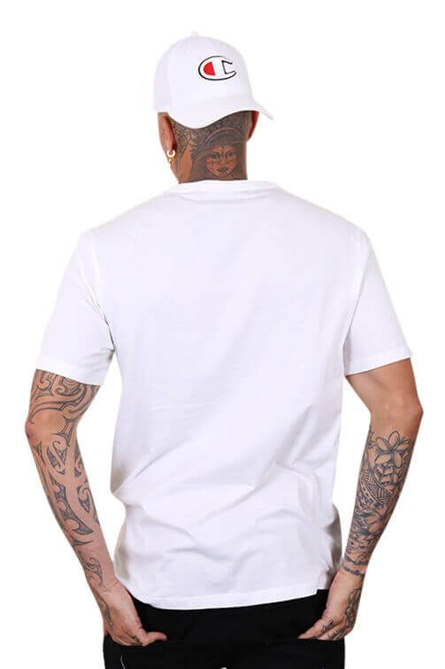 Champion Script Tee White Back