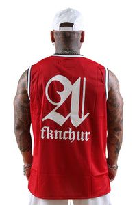 AFKNCHUR Lifestyle Basketball Jersey Red
