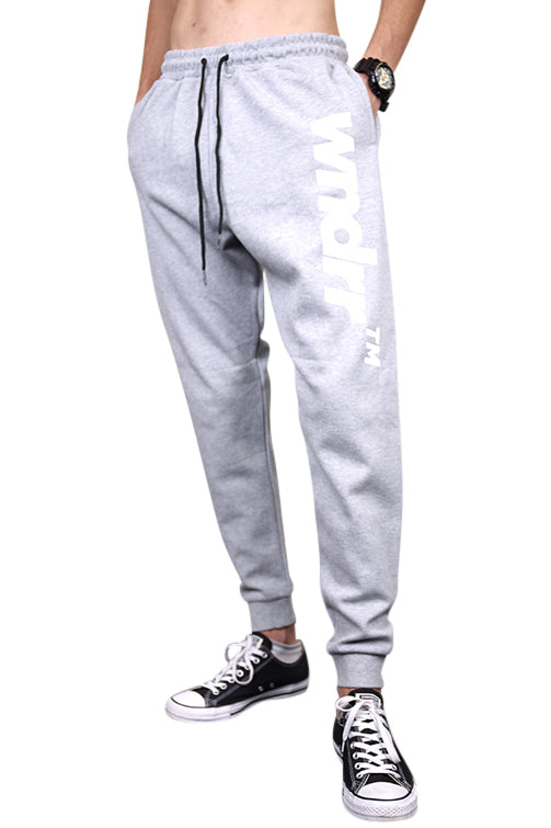 WNDRR Trademark Trackpant Grey Front