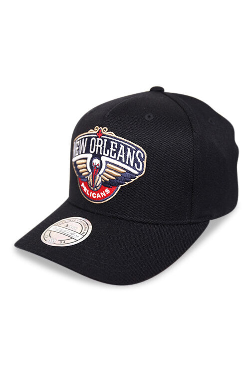 M&N 110 New Orleans Pelicans Black/Team Colour Logo Snapback Angle