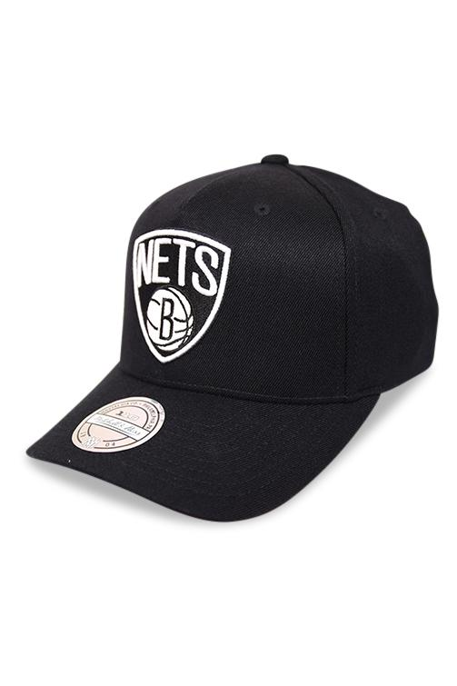 M&N 110 Brooklyn Nets Black/Team Colour Logo Snapback Angle