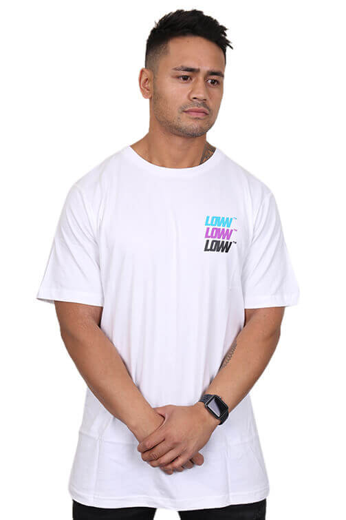 Lower Lo Stack QRS Tee White Front