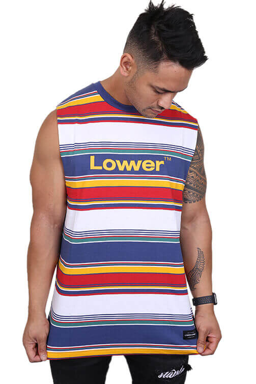 Lower Lowcase Cut Tank  Blue/Green Front