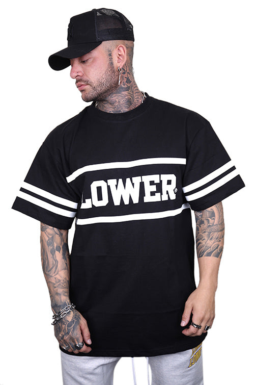 Lower Ruckus Block Tee Black