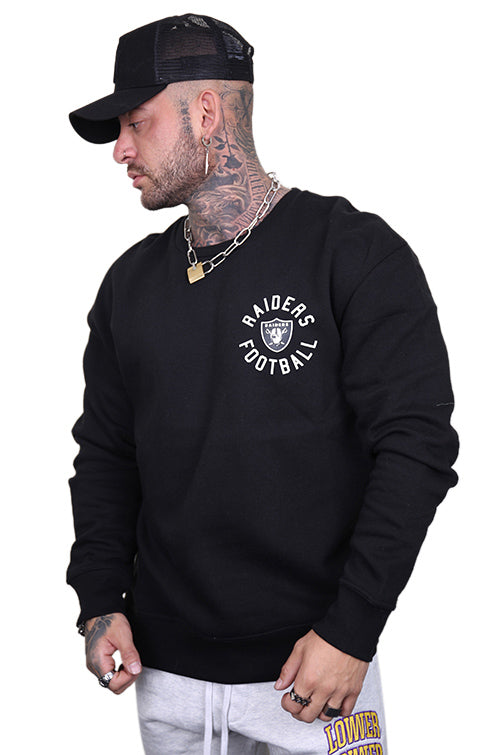 Majestic Raiders Fingham Crew Sweat Black