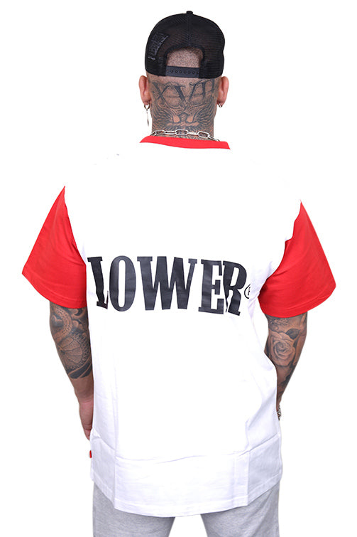 Lower Boro Block Tee Red/White