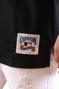 Majestic NY Cooperstown Bowling Shirt Black