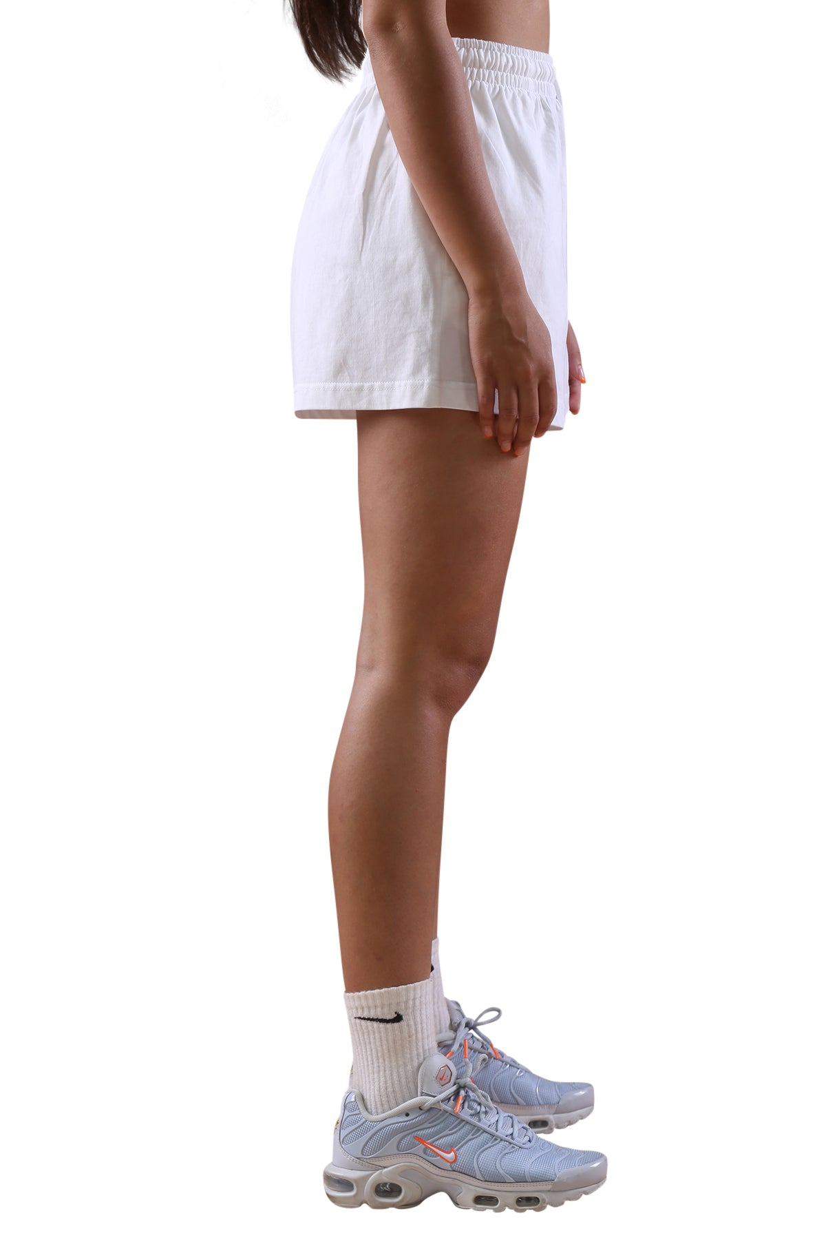 Champion Womens C Logo Jersey Short White