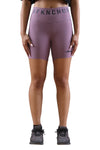 AFKNCHUR Womens Bike Shorts Mauve Front