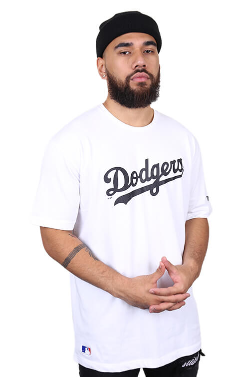 New Era LA Dodgers Oversized Tee White