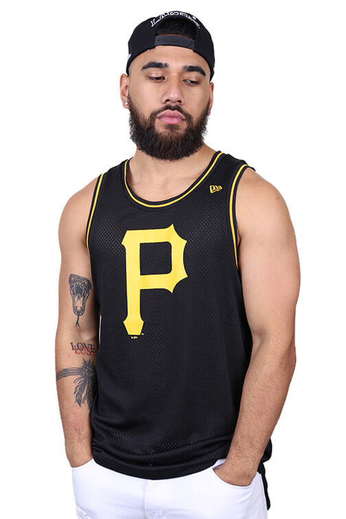 New Era Pirates Mesh Tank Black