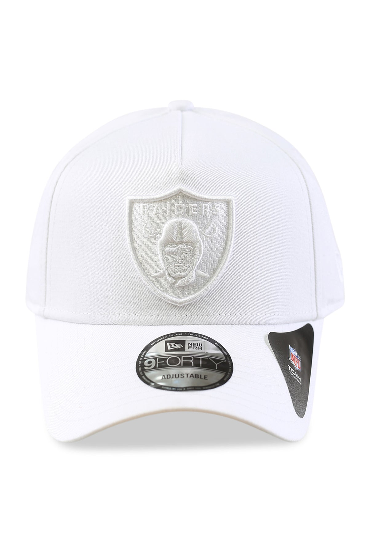 New Era 940 A Frame Oakland Raiders White White Snapback